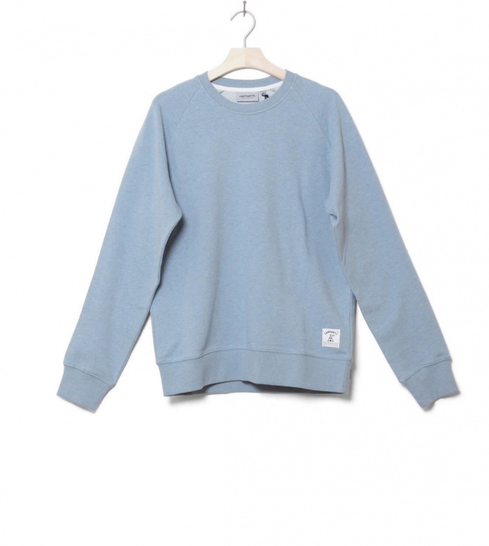 Carhartt WIP Pullover Holbrook blue dusty heather