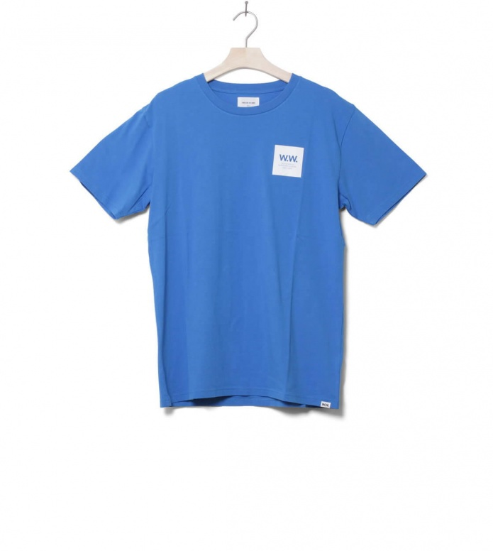 Wood Wood T-Shirt Box blue bright S