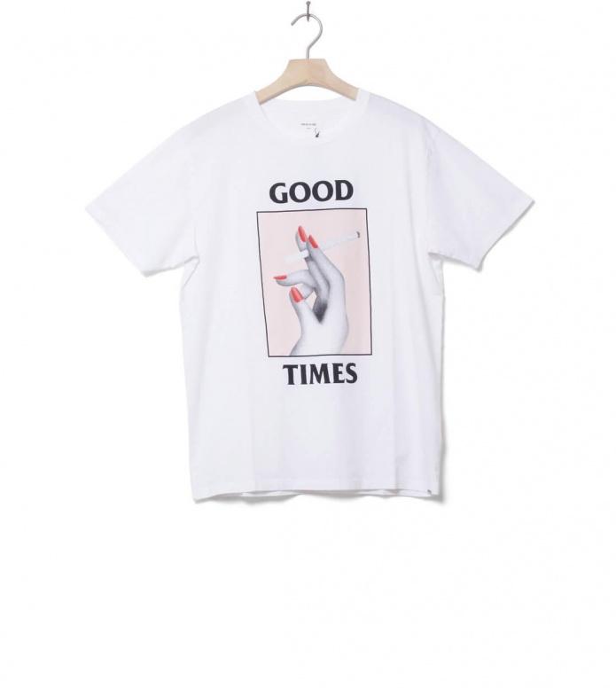 Wood Wood T-Shirt Good Times white bright M