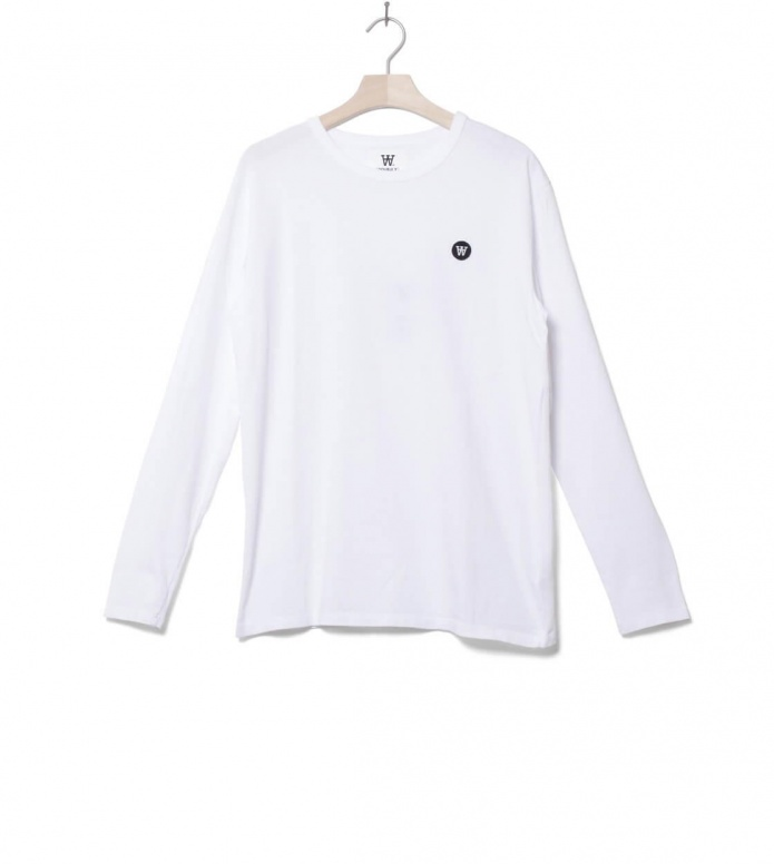 Wood Wood Longsleeve Mel white bright L