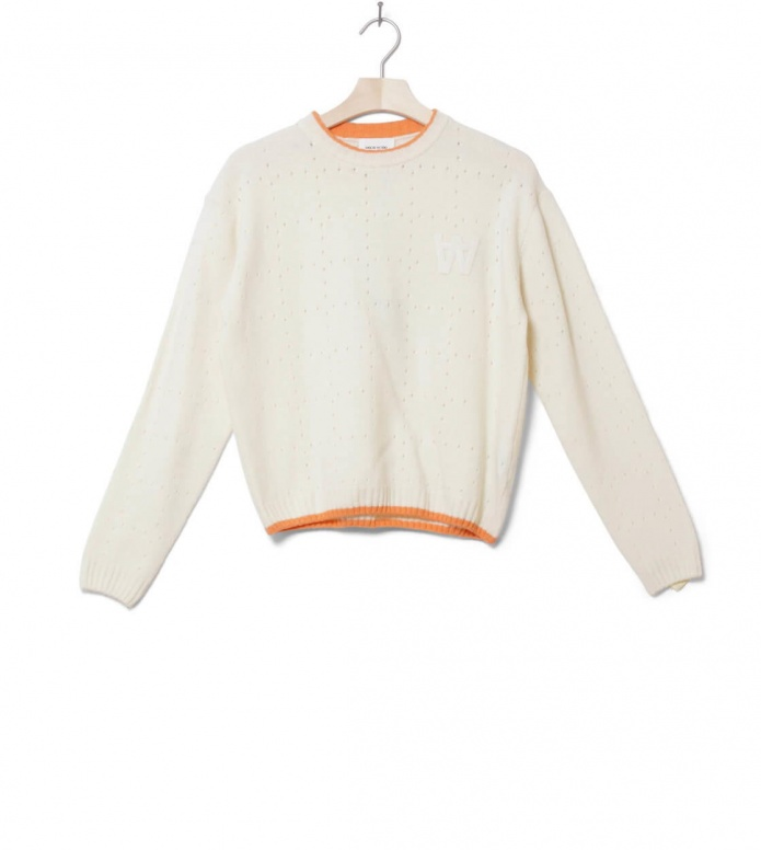 Wood Wood W Knit Pullover Caitlin beige white-off XS