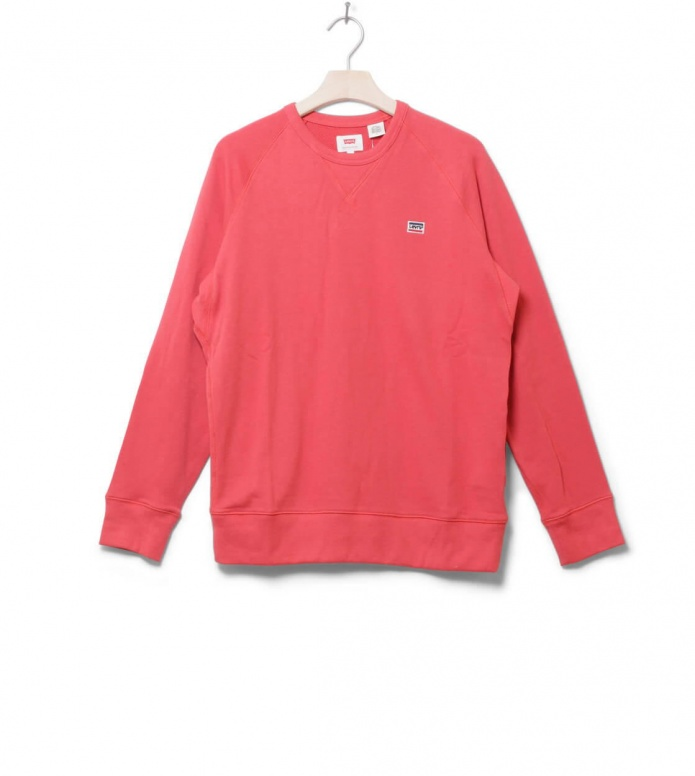 Levis Sweater Original Crew red sunset M