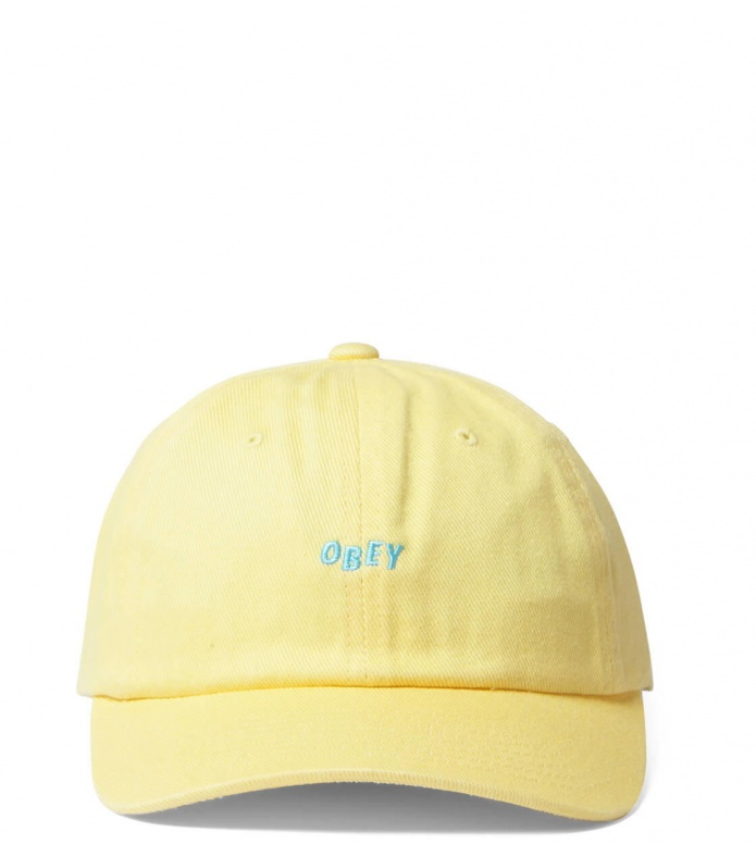 Obey Obey 6 Panel Cutty Snapback yellow pale