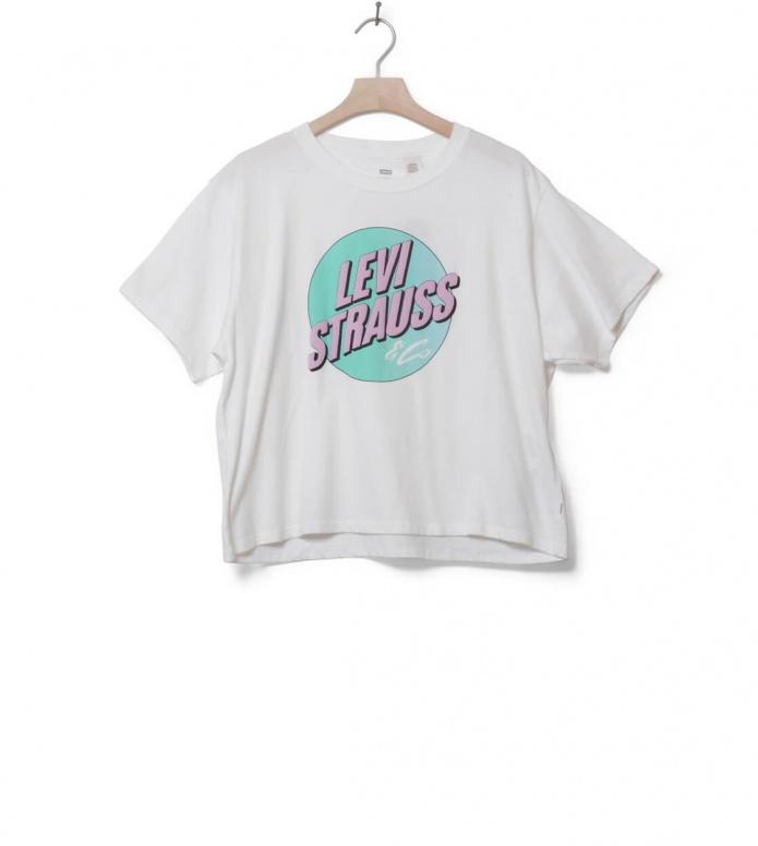 Levis W T-Shirt J.V. Circle white cloud dance