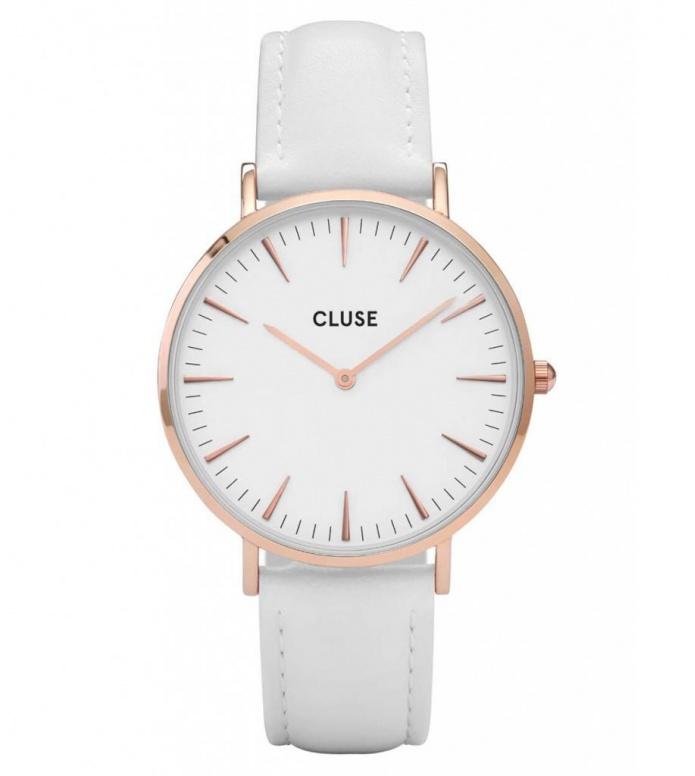 Cluse Cluse Watch La Boheme white/white rose gold