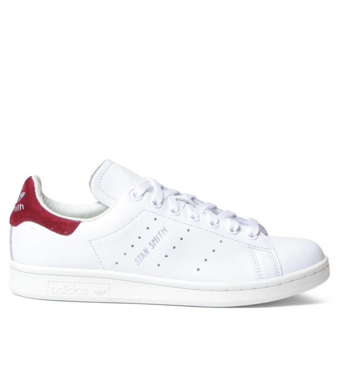adidas Originals Adidas W Shoes Stan Smith white footwear/footwear white/burgundy