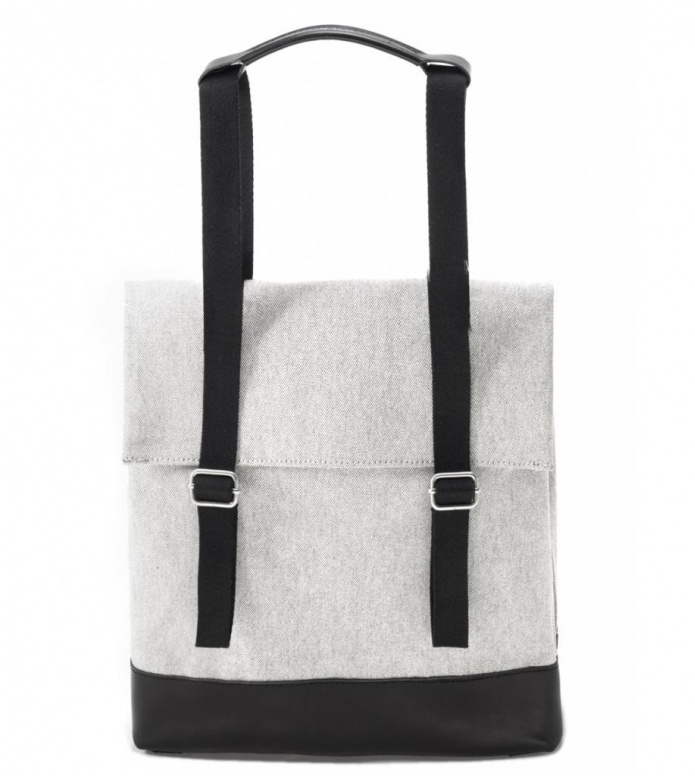 Qwstion Qwstion Bag Small Tote raw blend leather canvas