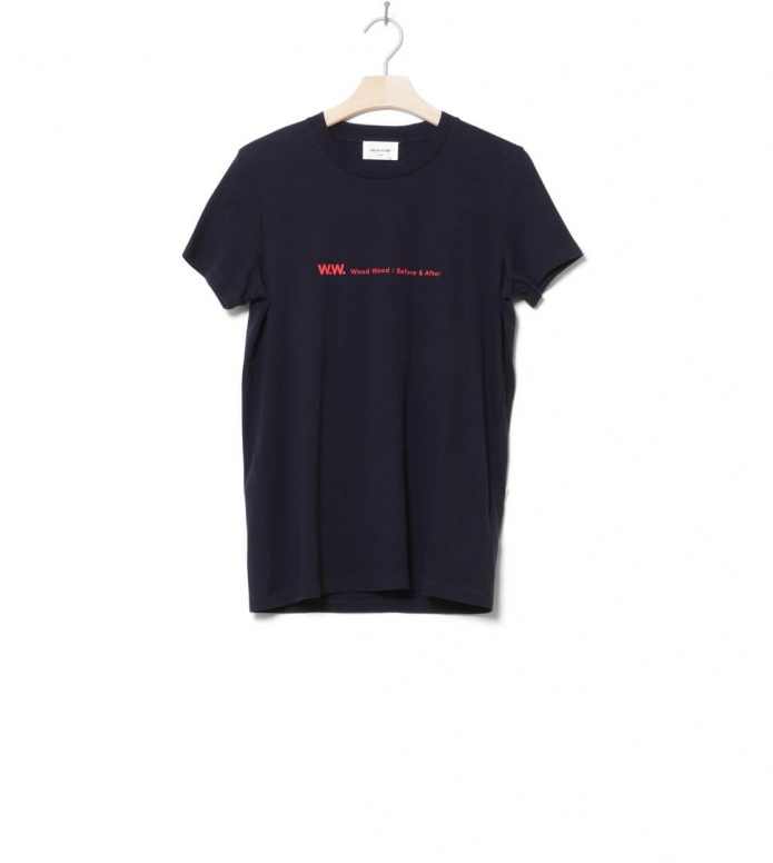 Wood Wood W T-Shirt Eden blue navy M
