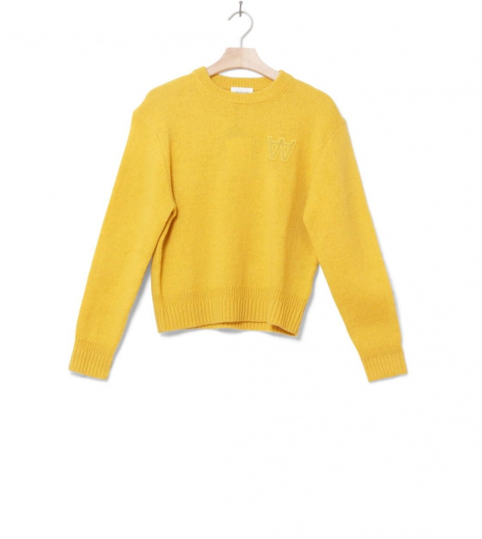 Wood Wood W Knit Pullover Anneli yellow mustard XS