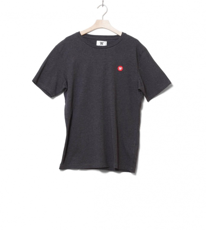 Wood Wood Wood Wood T-Shirt Ace grey dark melange