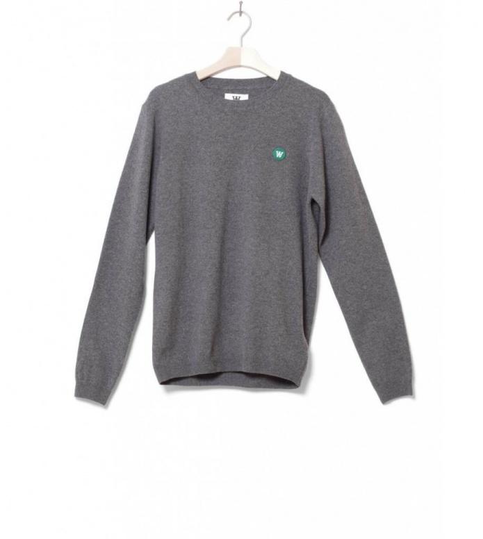 Wood Wood Wood Wood Sweater Tye grey dark melange