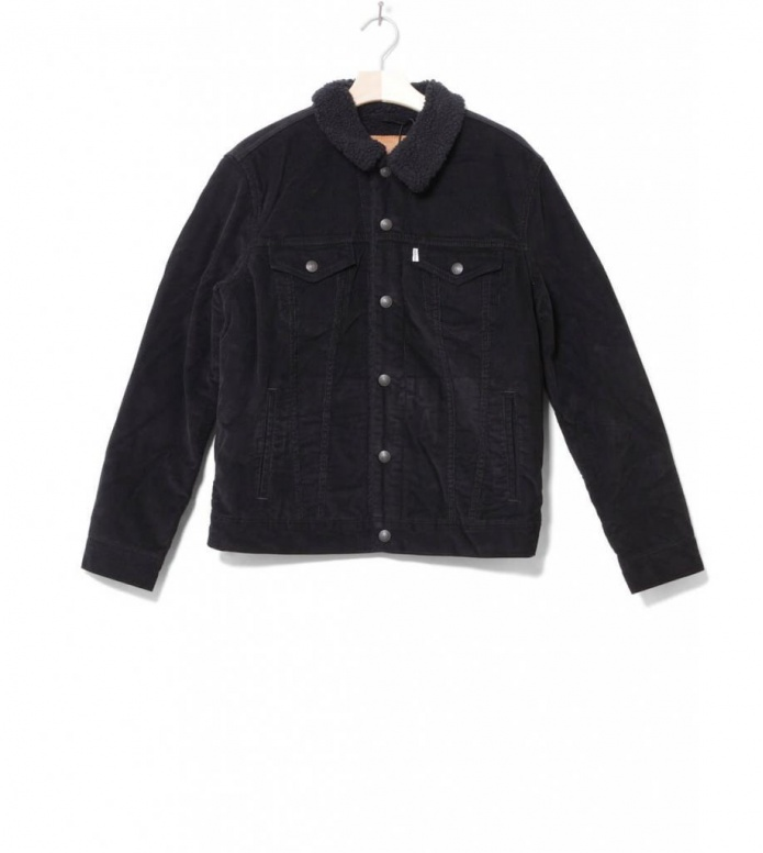 Levis Sherpa Jacket Cord Trucker black cord better S