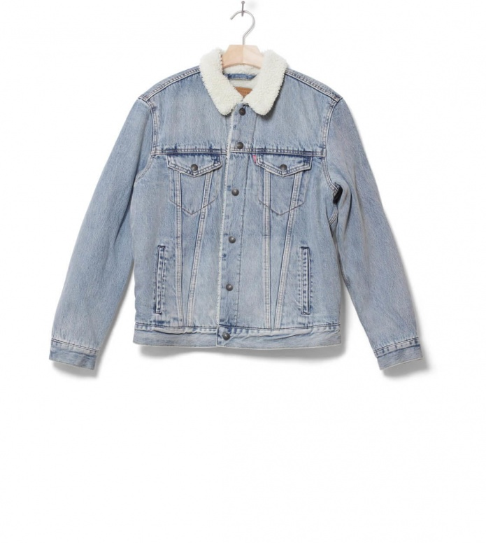 Levis Sherpa Jacket Trucker blue stonebridge S