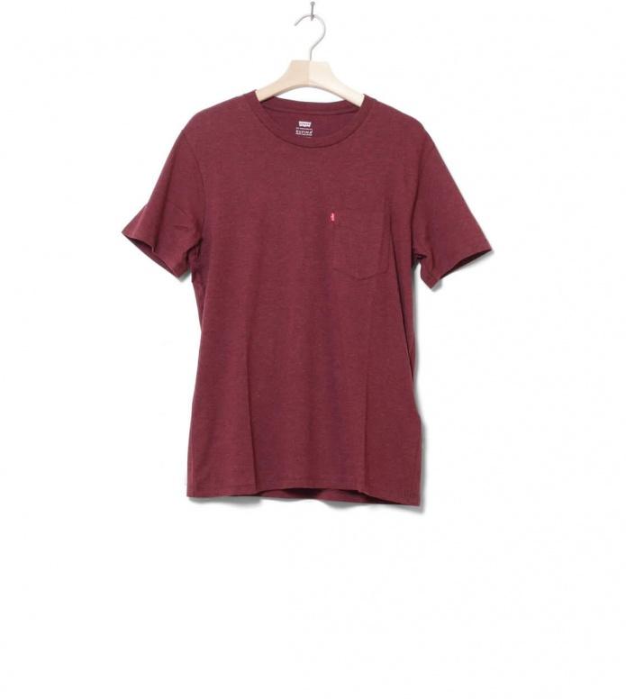 Levis T-Shirt Setin Sunset Pocket red fig purple heather
