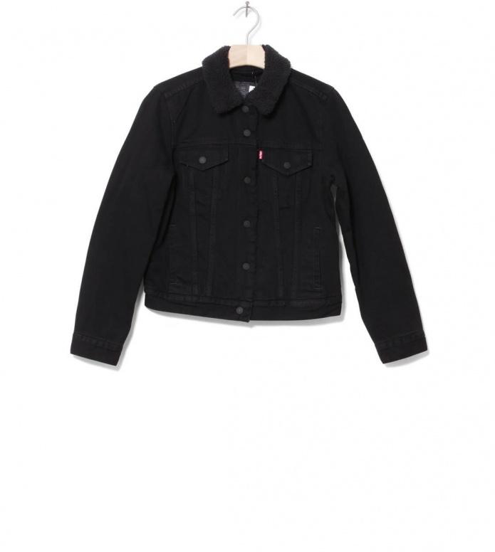 Levis W Sherpa Jacket Trucker black forever XS