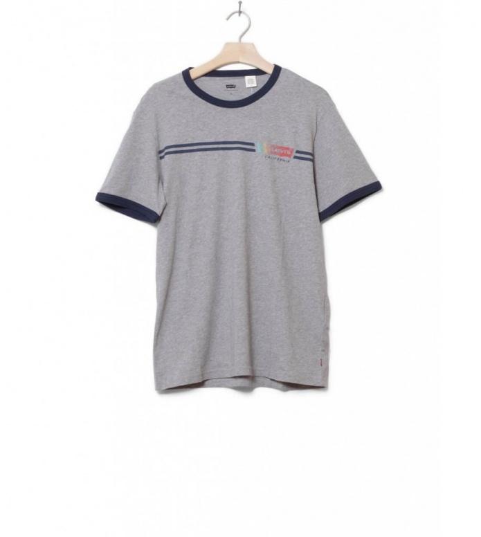 Levis T-Shirt Ringer Housemark grey retro midton