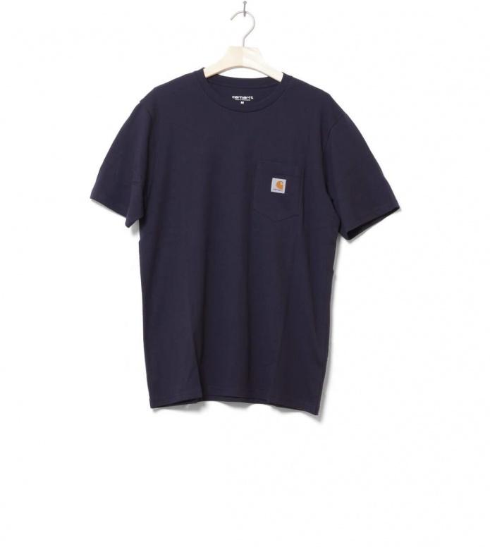 Carhartt WIP T-Shirt Pocket blue dark navy S