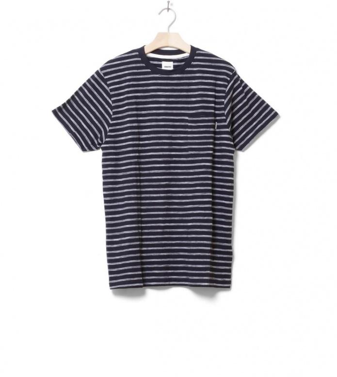 Wemoto T-Shirt Blake Jaquard blue navy-white