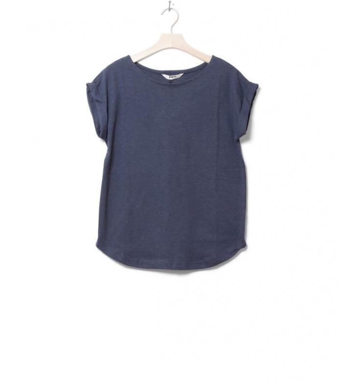 Wemoto W T-Shirt Bell blue navy melange