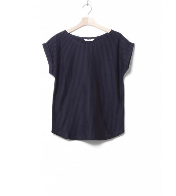 Wemoto W T-Shirt Bell stripe blue navy-black