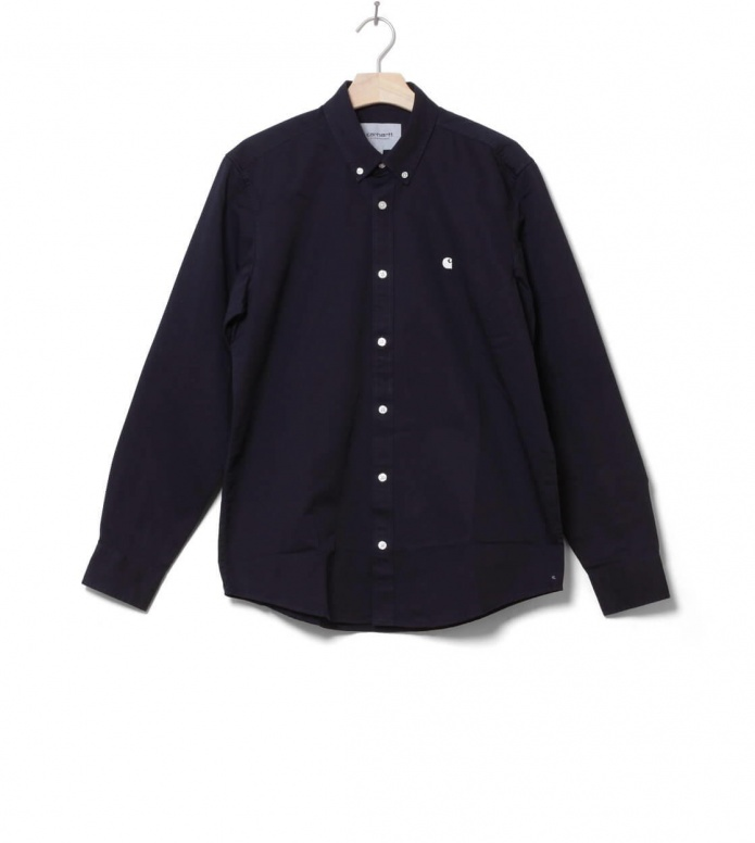 Carhartt WIP Shirt Madison blue dark navy S