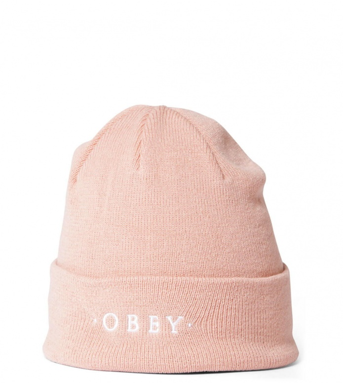 Obey Beanie Union pink dusty coral