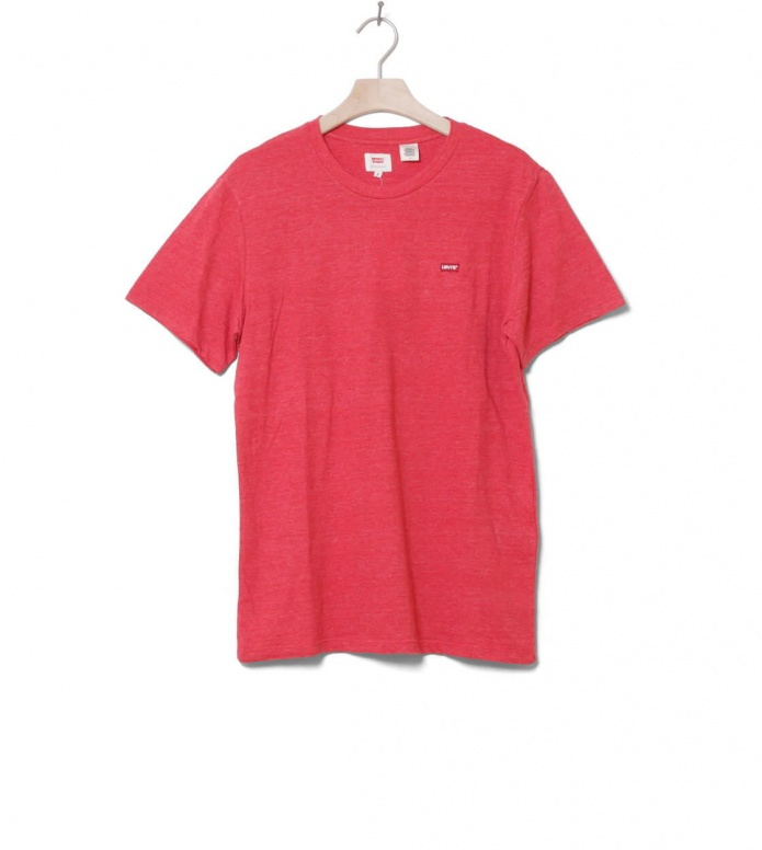 Levis T-Shirt Original red lychee M