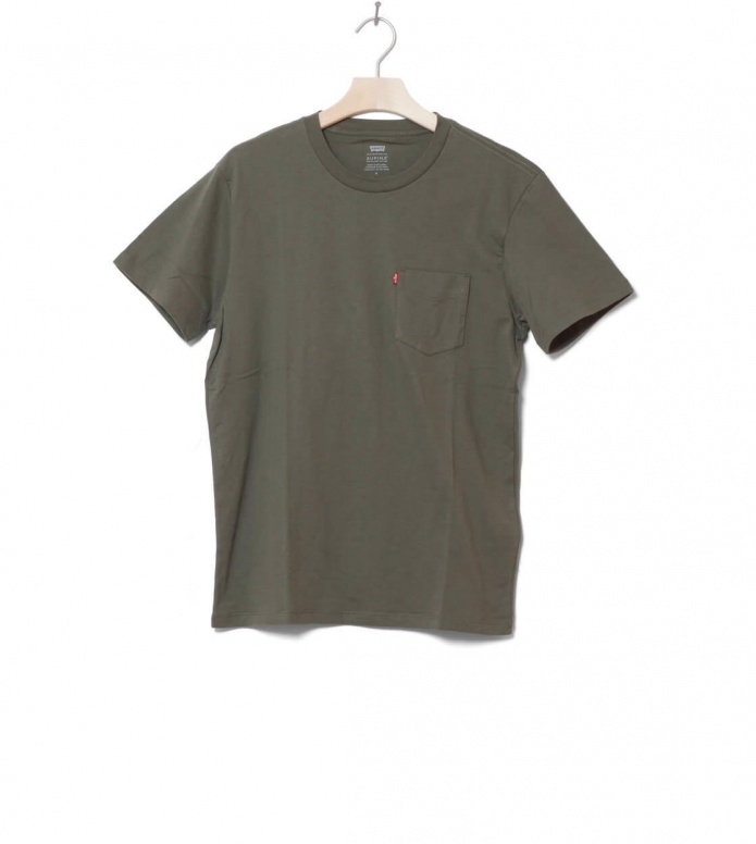 Levis T-Shirt Sunset Pocket green olive night S