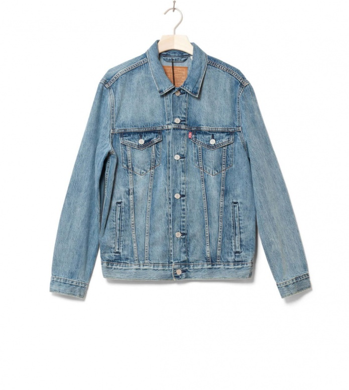 Levis Denimjacket The Trucker blue killebrow S