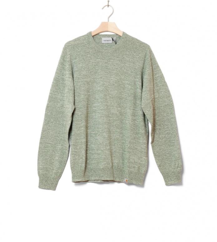 Carhartt WIP Sweater Toss green adventure/broken white S