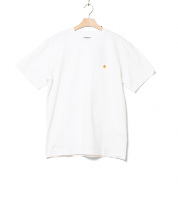Carhartt WIP T-Shirt Chase white combed/gold M