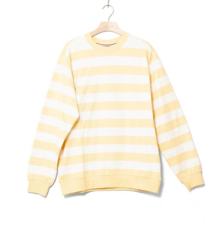 Wemoto Sweater Crew Stripe yellow tender M