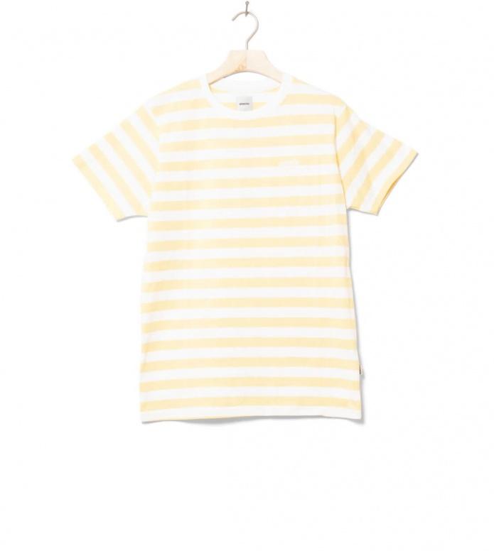 Wemoto T-Shirt Script Stripe yellow tender M