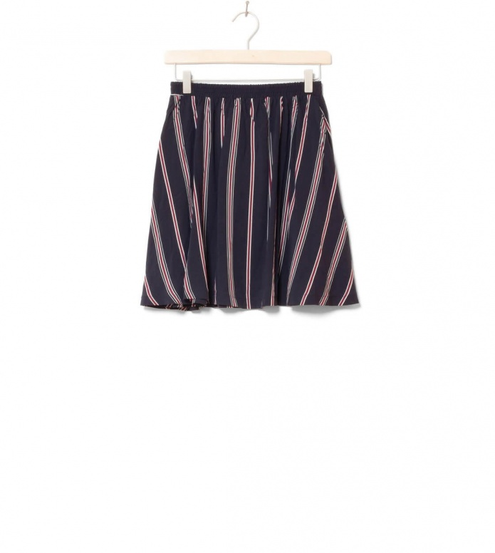 Wemoto W Skirt Rations Printed blue dark navy-burgundy S