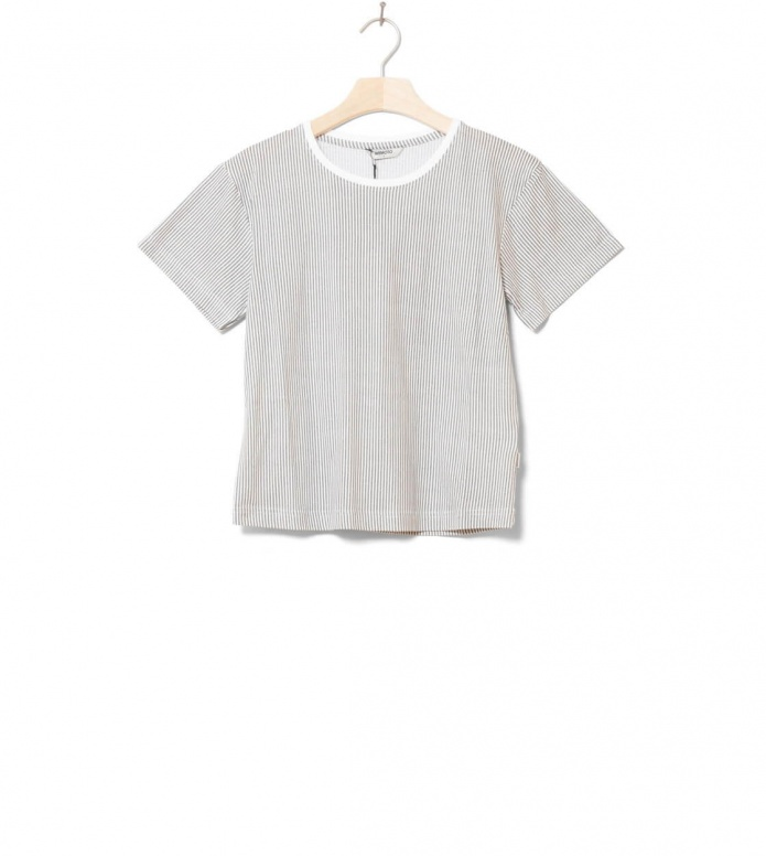 Wemoto W T-Shirt Teddy Printed white off-grey