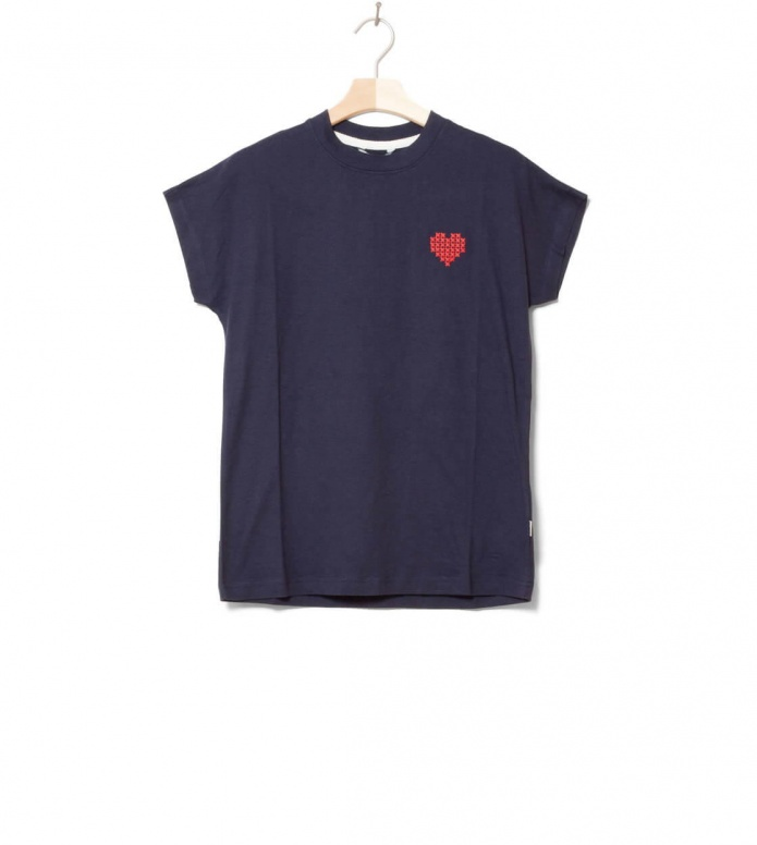 Wemoto W T-shirt Heart blue navy XS