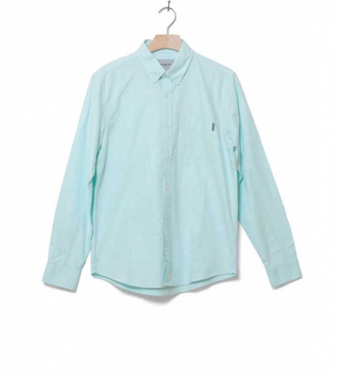 Carhartt WIP Shirt Button Down Pocket green yucca M