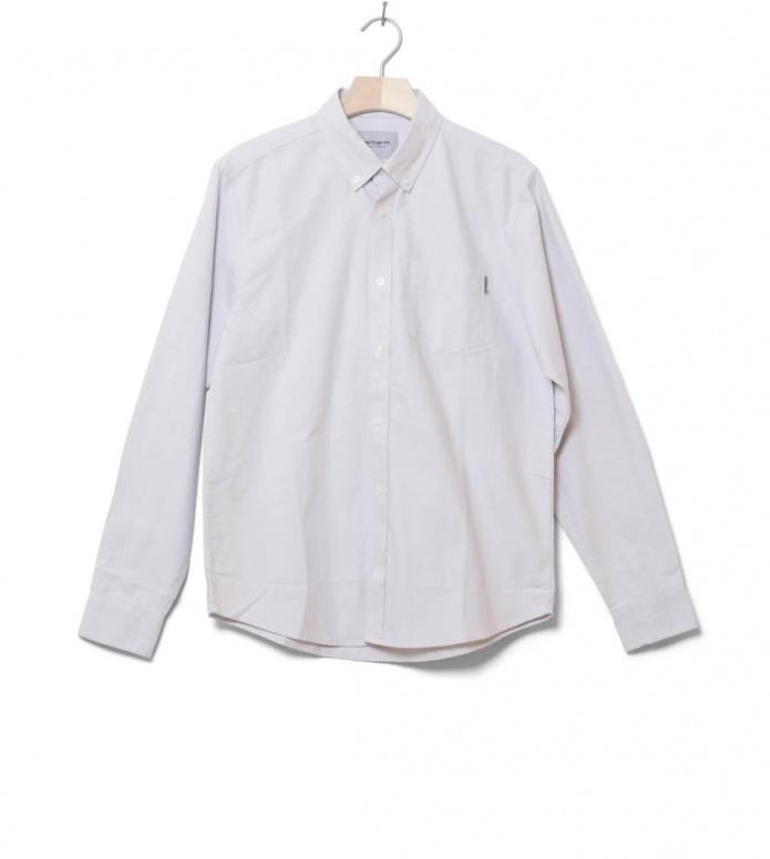 Carhartt WIP Shirt Button Down Pocket grey cinder S