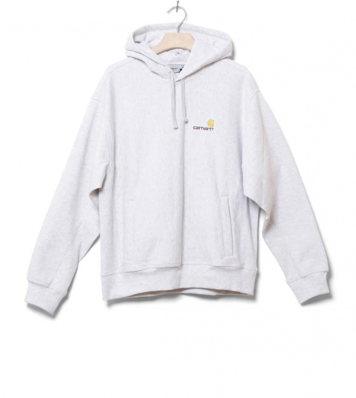 Carhartt WIP Sweater Hooded American Script grey ash heather L