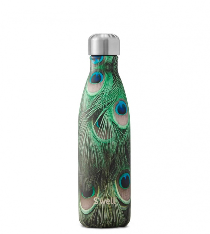 Swell Swell Water Bottle MD green peacock