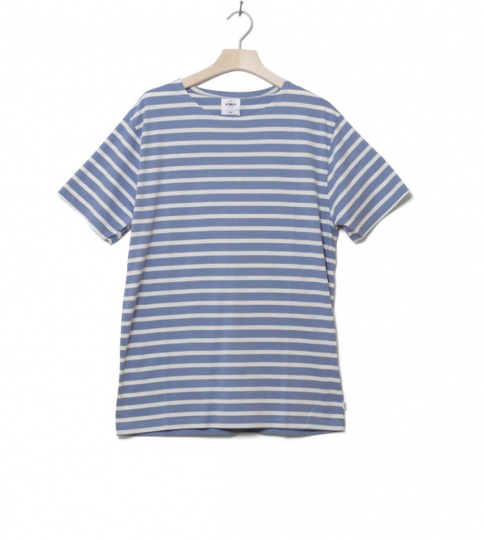Klitmoller T-Shirt Albert No pocket blue heaven/cream S