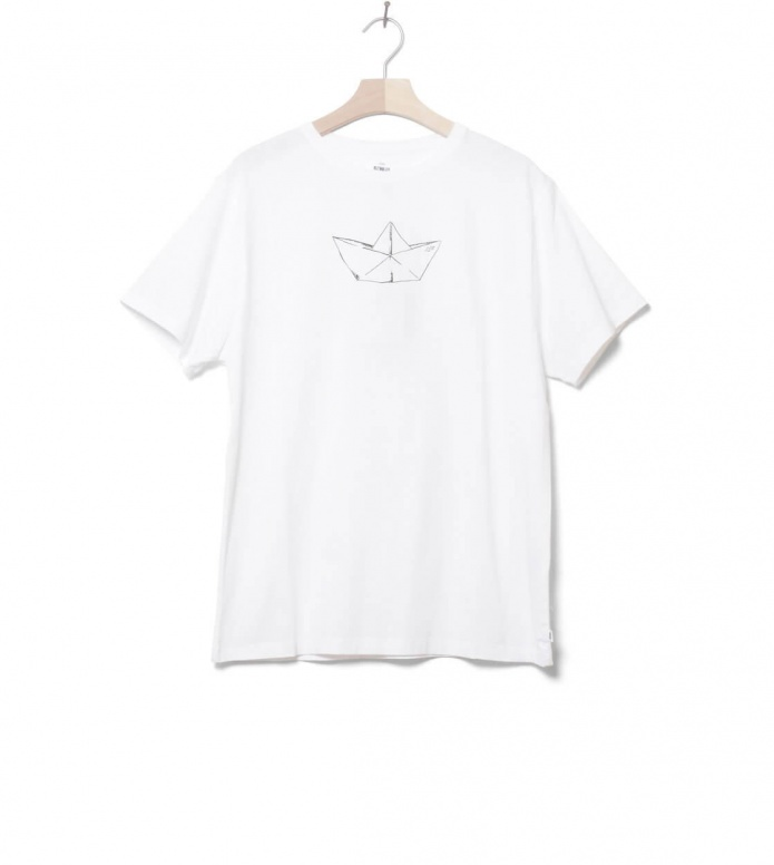 Klitmoller T-Shirt Birk The Boat white L