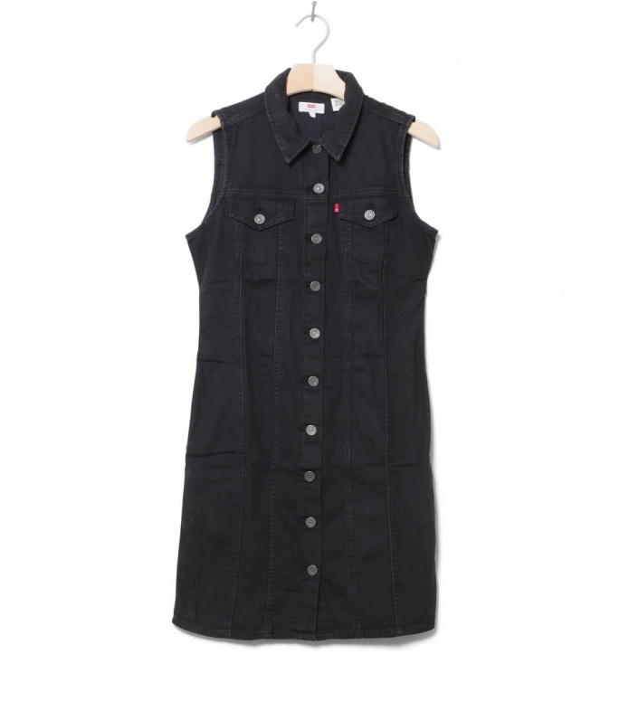 Levis W Dress SL Short Aubrey black shiny happy people x S