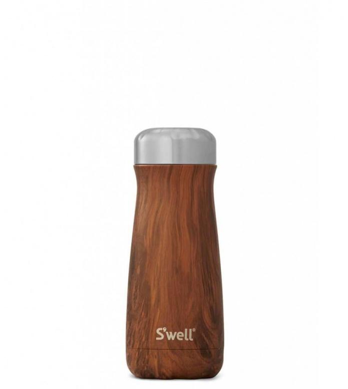 Swell Swell Bottle Traveler MD brown teakwood