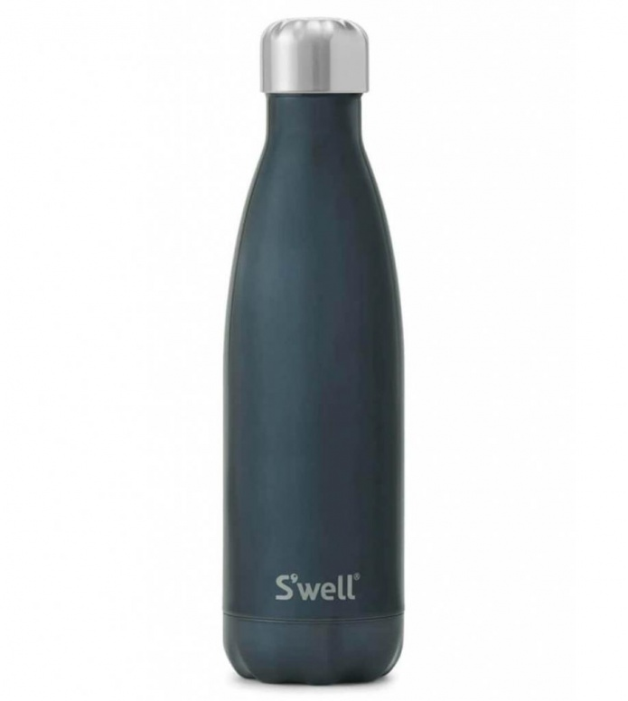 Swell Swell Water Bottle LG blue shimmer suede