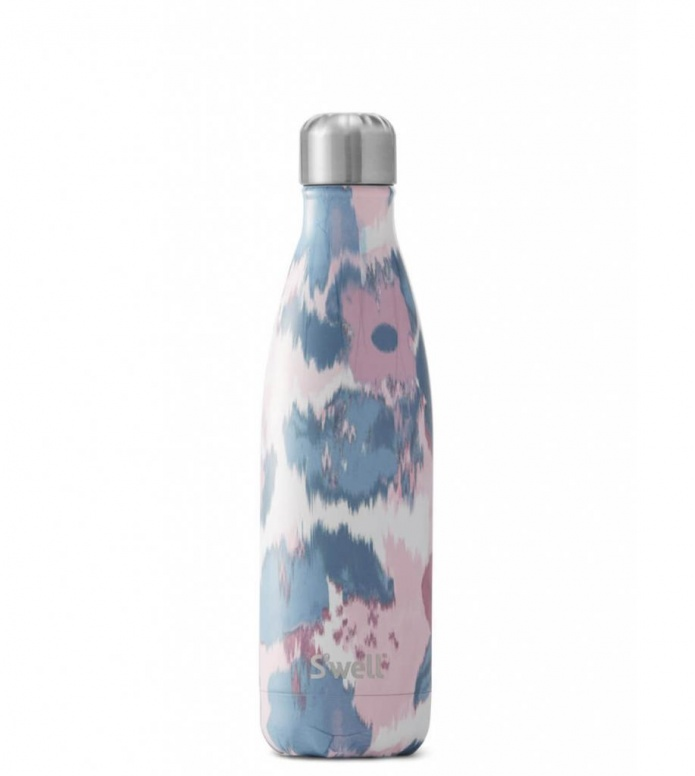 Swell Swell Water Bottle MD pink watercolor lilies