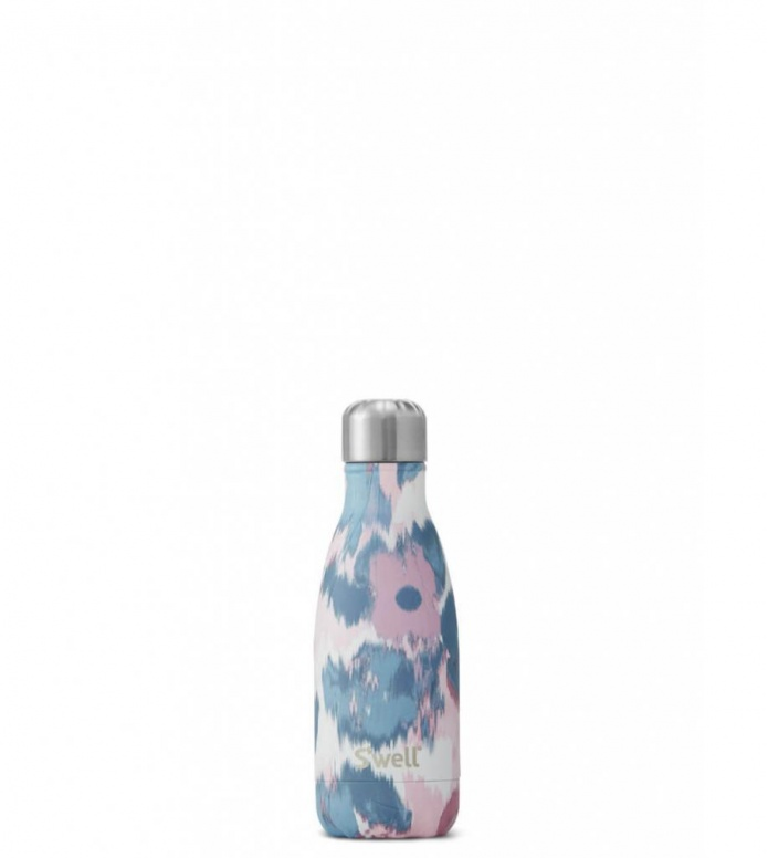 Swell Swell Water Bottle SM pink watercolor lilies