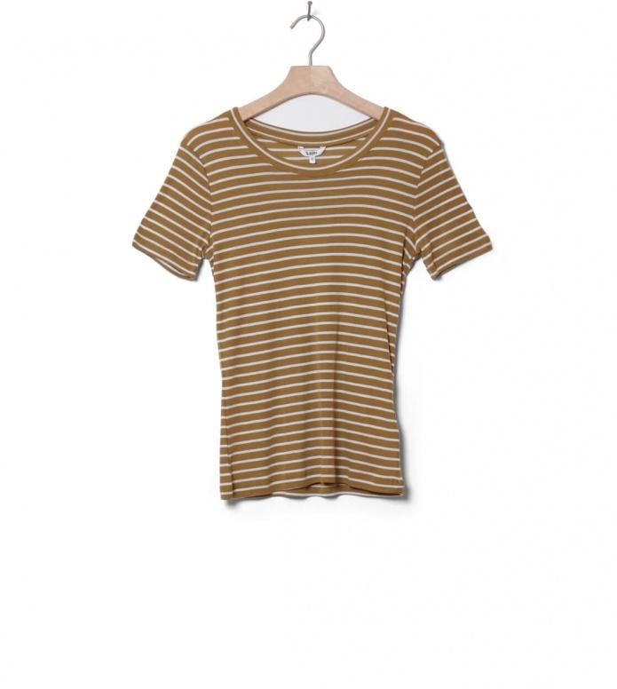 MbyM W T-Shirt Samira beige dijon sugar stripe XS