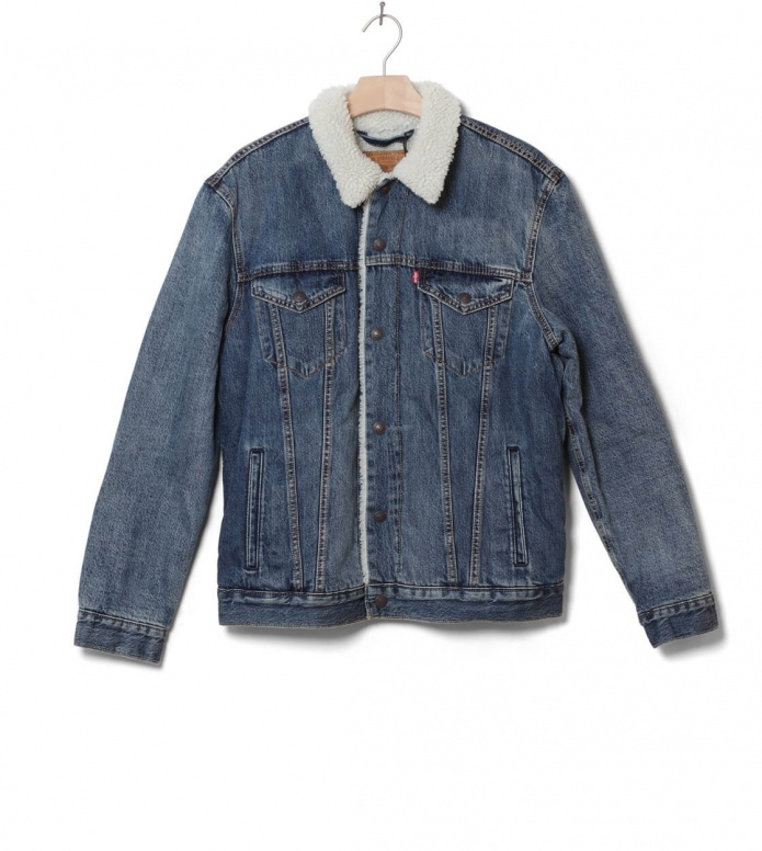Levis Sherpa Jacket Type 3 Trucker blue mayze S