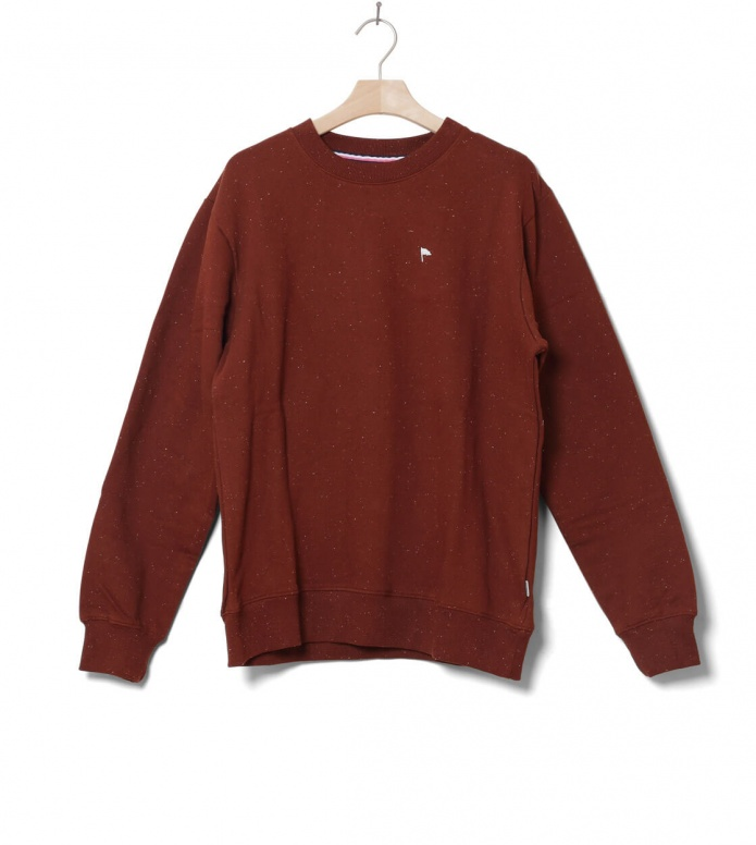 Wemoto Sweater Clove brown burnt henna nep M
